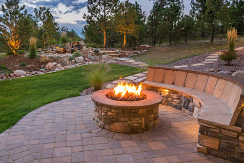 outdoor living: fire pit